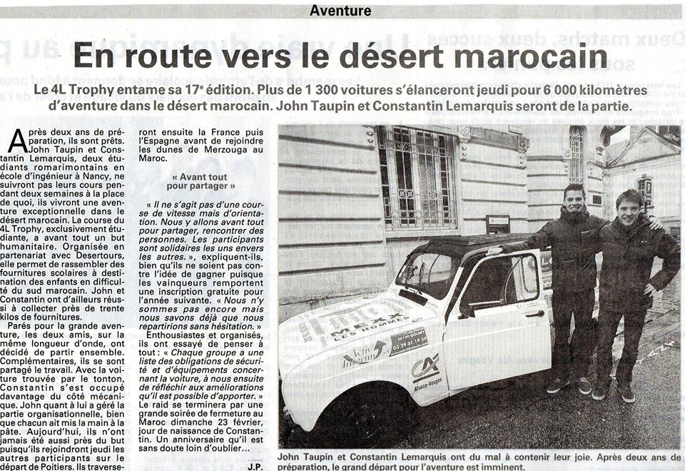 Article Vosges Matin 2